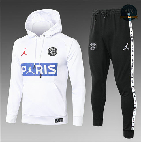 Max Survetement Sweat à capuche PARIS PARIS PSG Jordan Enfant 2020 Blanc LOGO