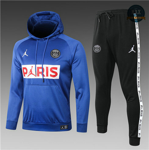 Max Survetement Sweat à capuche PARIS PSG Jordan Enfant 2020 Bleu PARIS