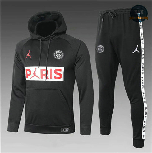 Max Survetement Sweat à capuche PARIS PSG Jordan Enfant 2020 Noir PARIS