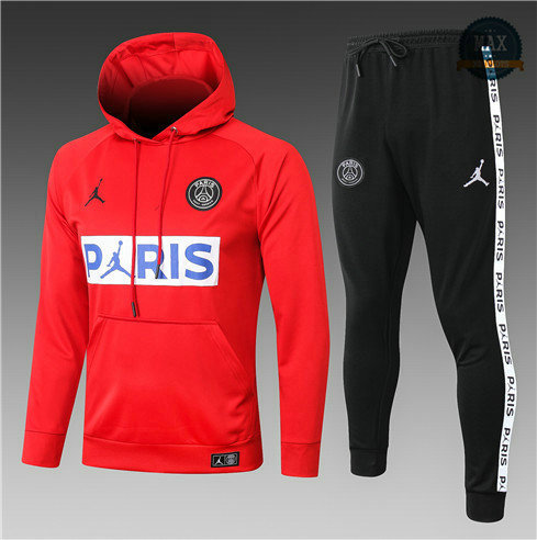 Max Survetement Sweat à capuche PARIS PSG Jordan Enfant 2020 Rouge/Bleu/Blanc