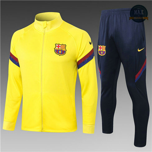 Max Veste Survetement Barcelone Enfant 2020 Jaune