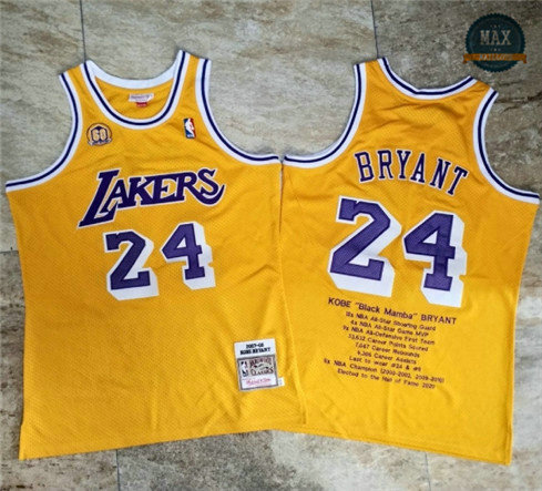 Max Maillot Kobe Bryant, Los Angeles Lakers - Gold Commemorative