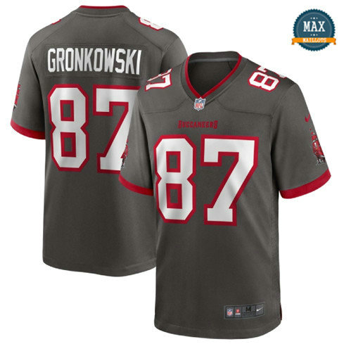Max Maillots Rob Gronkowski, Tampa Bay Buccaneers - Pewter