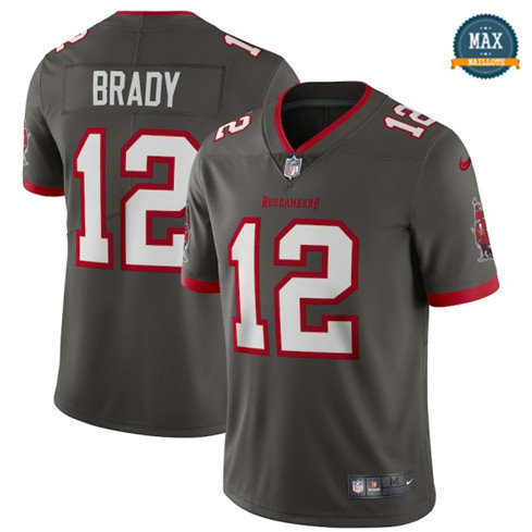 Max Maillots Tom Brady, Tampa Bay Buccaneers - Pewter