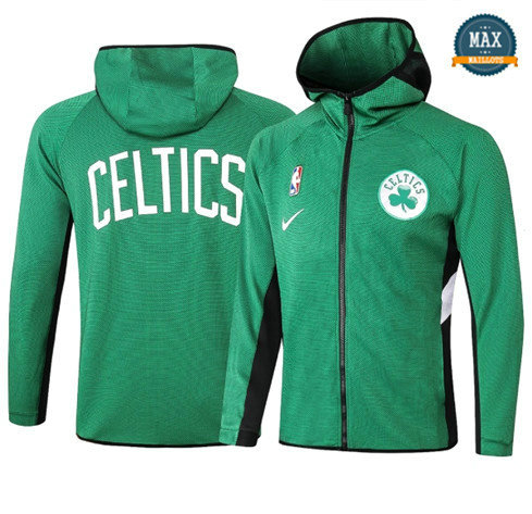 Max Maillot Veste Sweat à capuche Boston Celtics - Vert