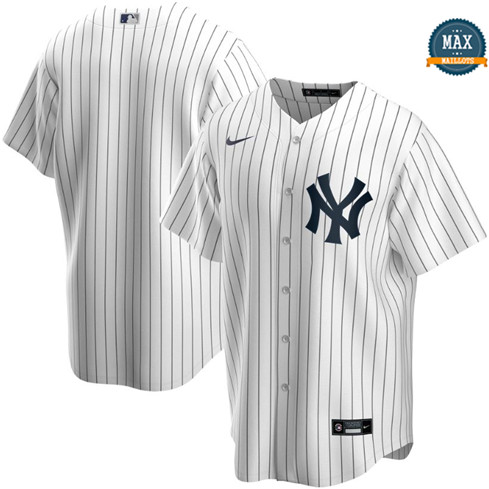 Max Maillots New York Yankees - Blanc Classic pas cher
