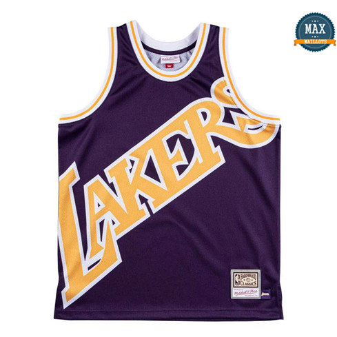 Max Maillot Los Angeles Lakers - Mitchell & Ness 'Big Face' fiable