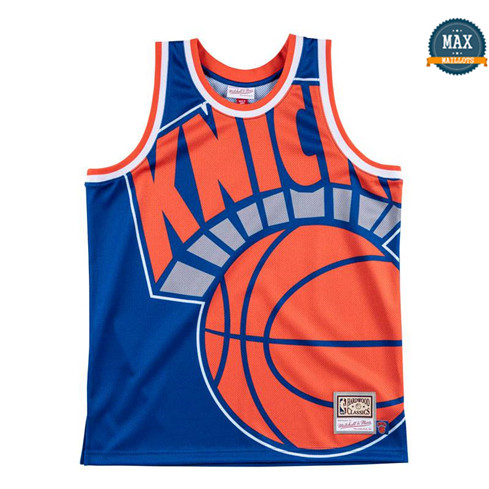 Max Maillots New York Knicks - Mitchell & Ness 'Big Face' pas cher