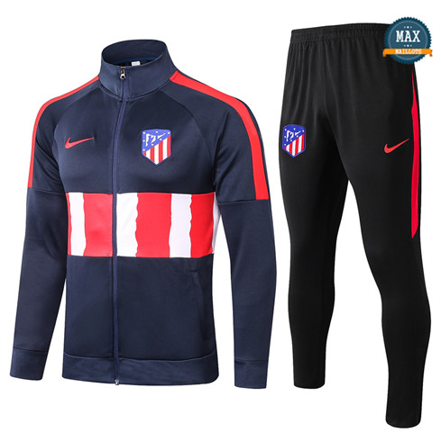 Max Veste Survetement Atletico Madrid 2020/21 Bleu Marine/Rouge/Blanc
