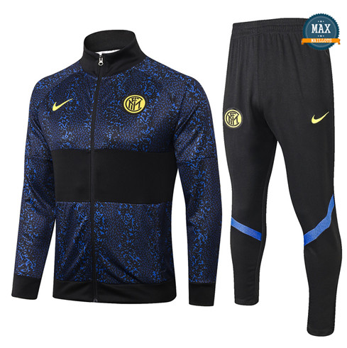 Max Veste Survetement Inter Milan 2020/21 Bleu Marine/Noir