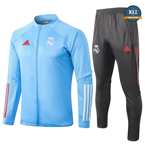 Max Veste Survetement Real Madrid 2020/21 Bleu Clair