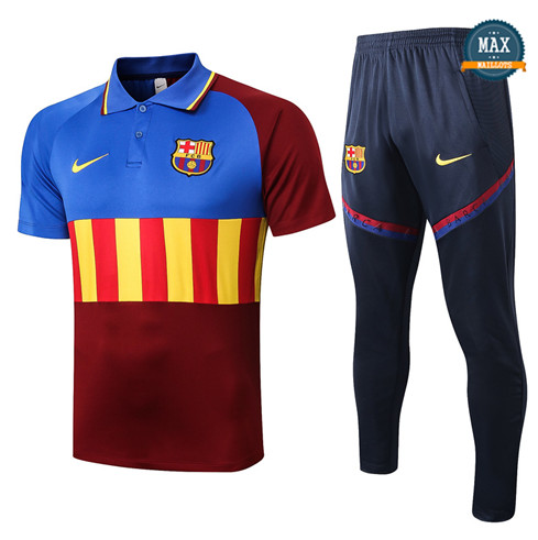BarceloneBarcelone POLO + Pantalon 2020/21 Training Bleu/Rouge/Jaune