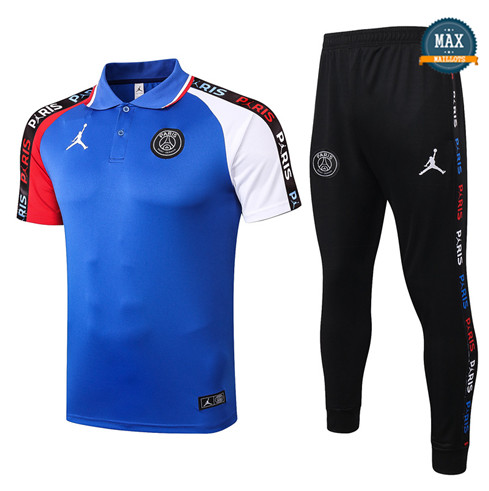 JordanJordan POLO + Pantalon 2020/21 Training Bleu/Rouge/Blanc