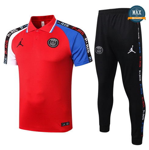JordanJordan POLO + Pantalon 2020/21 Training Rouge/Blanc/Bleu