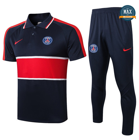 Paris Saint GermainPSG POLO + Pantalon 2020/21 Training Bleu Marine/Rouge