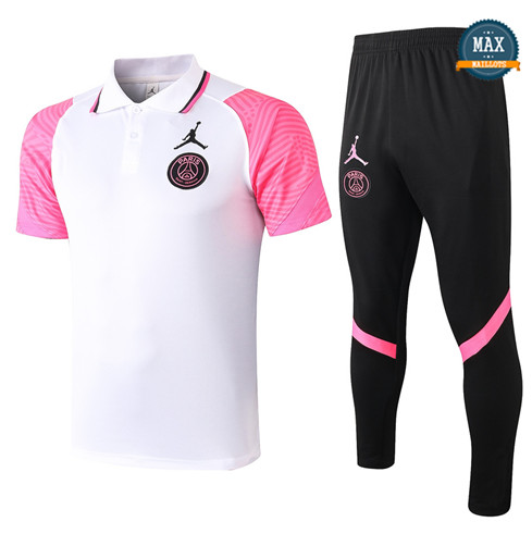 Paris Saint GermainJordan PSG POLO + Pantalon 2020/21 Training Blanc/Rose
