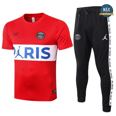 Paris Saint GermainJordan PSG + Pantalon 2020/21 Training Rouge/Blanc