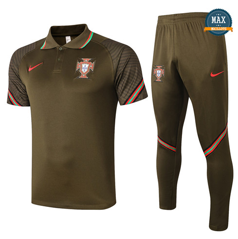 PortugalPortugal POLO + Pantalon 2020/21 Training Noir