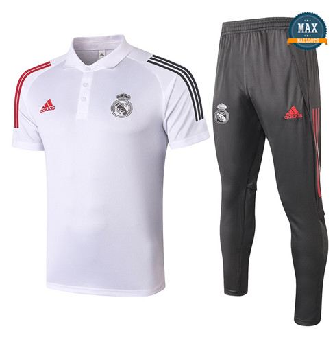 Real MadridReal Madrid POLO + Pantalon 2020/21 Training Blanc
