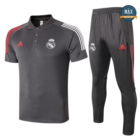 Real MadridReal Madrid POLO + Pantalon 2020/21 Training Gris foncé