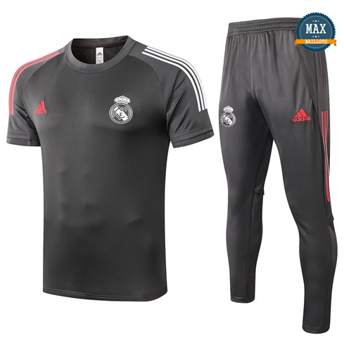 Real MadridReal Madrid + Pantalon 2020/21 Training Gris foncé