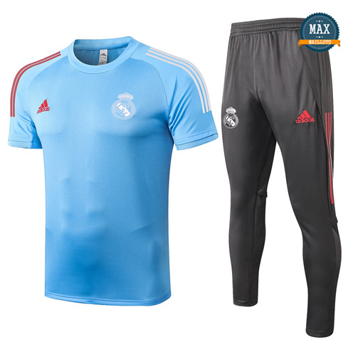 Real MadridReal Madrid + Pantalon 2020/21 Training Bleu Clair