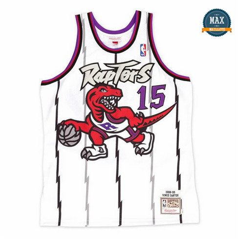 Max Maillot Vince Carter, Toronto Raptors Mitchell&Ness - Blanc