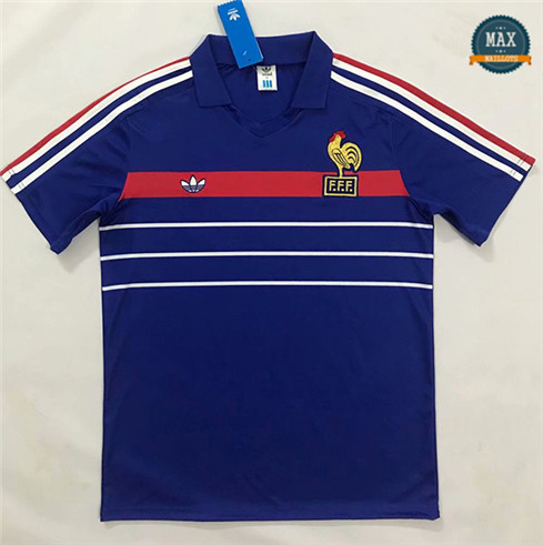 Max Maillots Retro 1984-1986 France Domicile European Champions