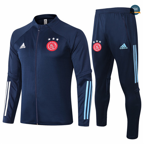 Max Veste Survetement AFC Ajax 2020/21 Bleu Marine