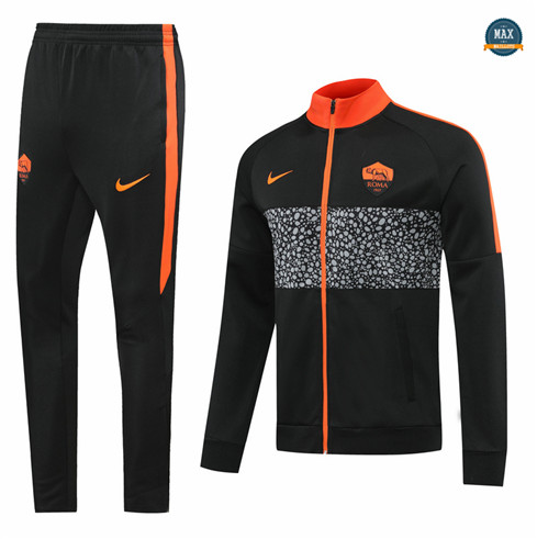 Max Veste Survetement AS Roma 2020/21 Noir