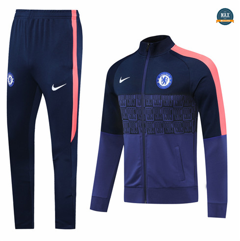 Max Veste Survetement Chelsea 2020/21 Bleu Marine