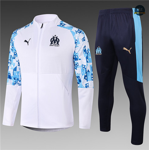 Max Veste Survetement Enfant Marseille 2020/21 Blanc