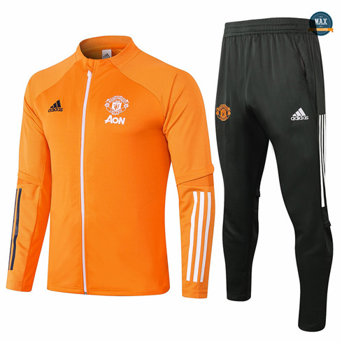 Max Veste Survetement Manchester United 2020/21 Orange