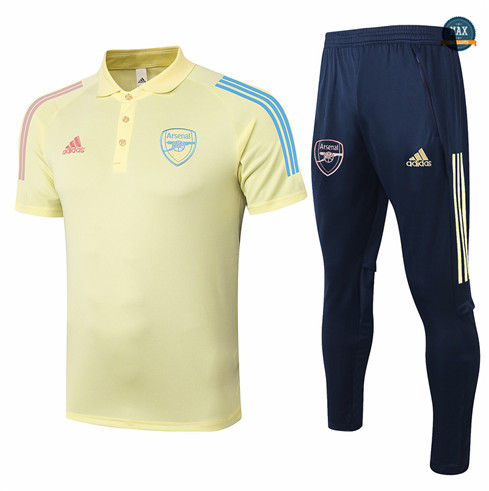 Max Maillot Arsenal Polo + Pantalon 2020/21 Training Jaune