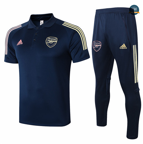 Max Maillots Arsenal Polo + Pantalon 2020/21 Training Bleu Marine