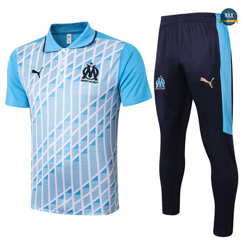 Max Maillot Marseille Polo + Pantalon 2020/21 Training Bleu Clair