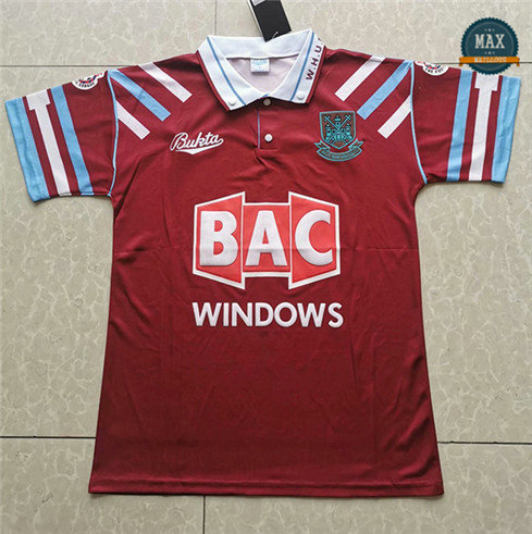 Max Maillot Classic West Ham United 1991-92 Domicile