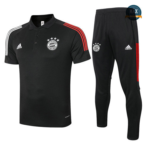 Max Maillots Bayern Munich Polo + Pantalon 2020/21 Training Noir