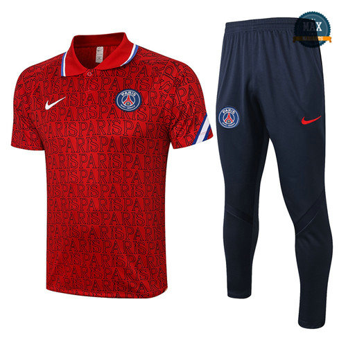 Max Maillots PSG Polo + Pantalon 2020/21 Training Rouge Paris