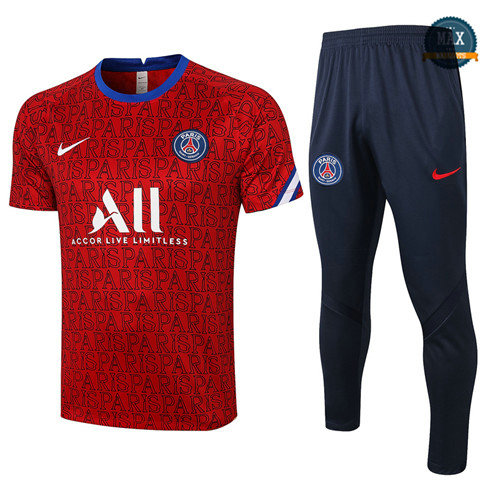 Max Maillot PSG + Pantalon 2020/21 Training Rouge Paris