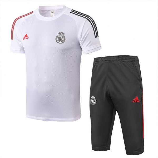 Max Maillots Real Madrid + Pantalon 3/4 Training 2020/21 Blanc