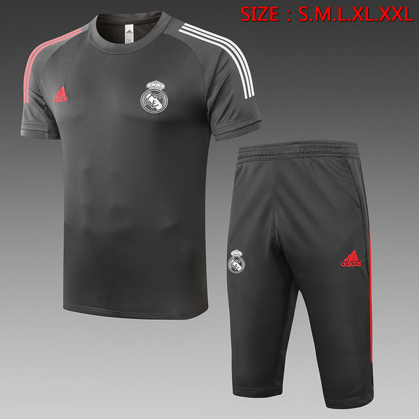 Max Maillot Real Madrid + Pantalon 3/4 Training 2020/21 Gris foncé