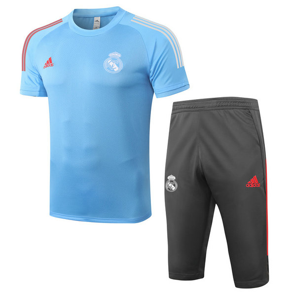 Max Maillots Real Madrid + Pantalon 3/4 Training 2020/21 Bleu Clair