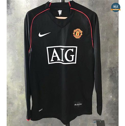 Max Maillots Rétro Manchester United 2007-08 Third Manche Longue