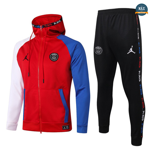 Max Veste Survetement Enfant a Capuche Jordan 2020/21 Rouge