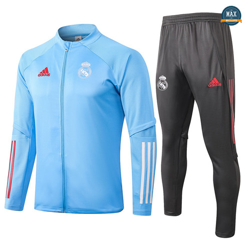 Max Veste Survetement Enfant Real Madrid 2020/21 Bleu clair