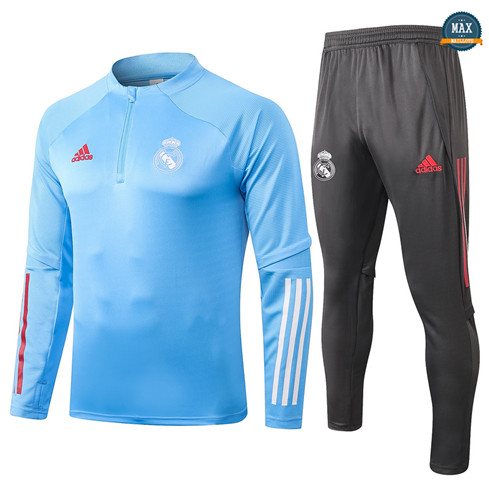 Max Survetement Enfant Real Madrid 2020/21 Bleu clair