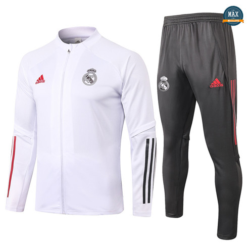Max Veste Survetement Enfant Real Madrid 2020/21 Blanc
