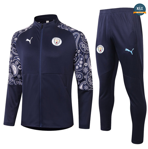Max Veste Survetement Manchester City 2020/21 Bleu Marine