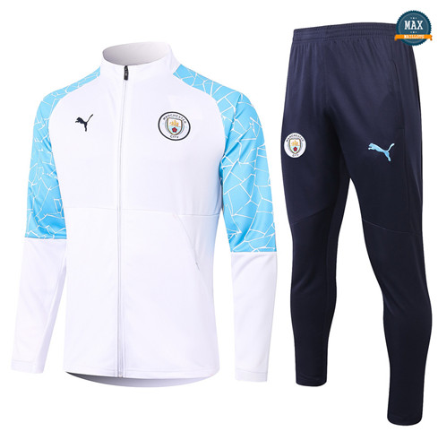 Max Veste Survetement Manchester City 2020/21 Blanc